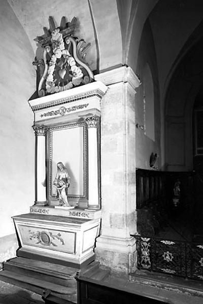 autel, retable (autel secondaire nord)