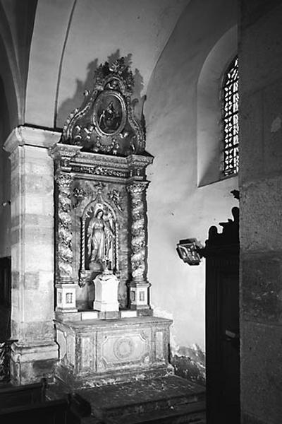 autel, retable (autel secondaire sud)