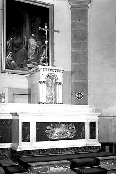 Autel, tabernacle (ensemble du maître-autel)