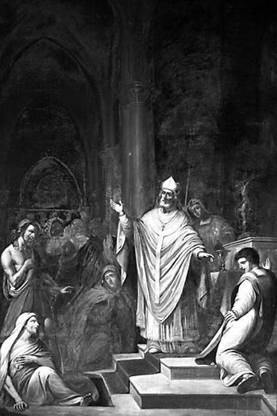 tableau : Saint Martin de Tours ressuscitant le catéchumène de Ligugé