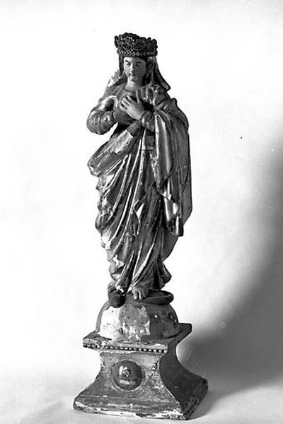 statuette-reliquaire : Vierge de l'Immaculée Conception