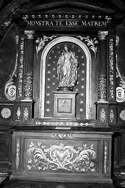 Autel, retable (autel secondaire de la Vierge)