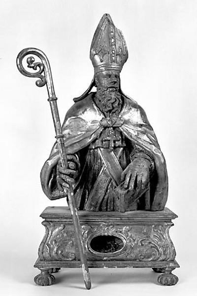 2 bustes-reliquaires : saint évêque et saint Pierre de Tarentaise