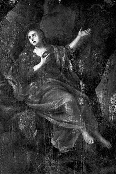 Tableau : la Pénitence de sainte Madeleine à la Sainte-Baume