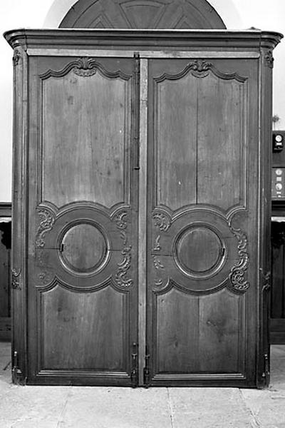 armoire, tambour de porte