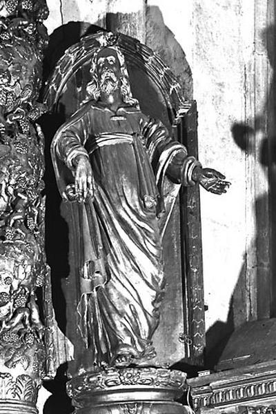 2 statues : Vierge à l'Enfant et saint Joseph