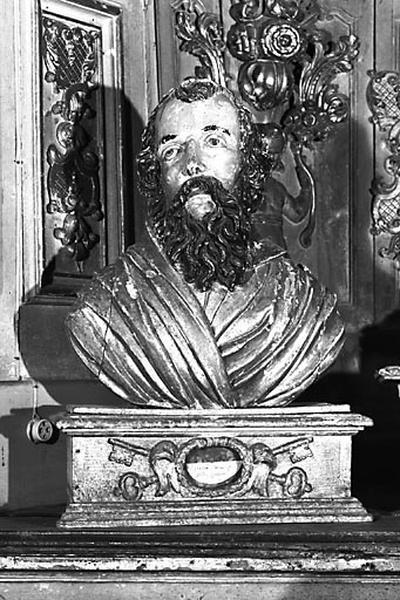 2 bustes-reliquaires : saint Pierre et saint Paul