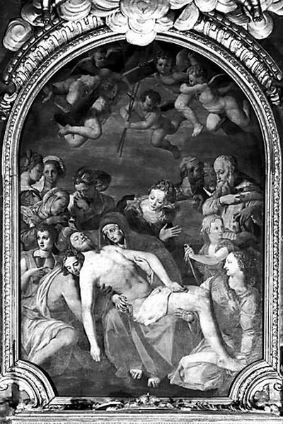Tableau d'autel : la Déploration sur le Christ mort