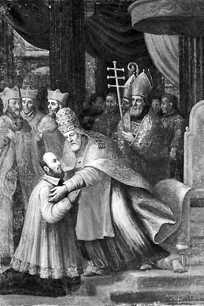2 tableaux : scènes de la vie de saint François de Sales