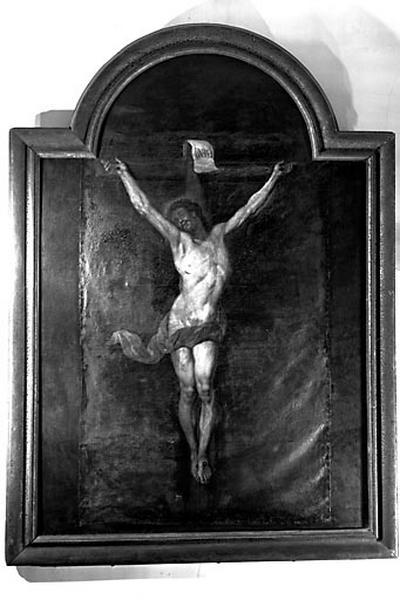 Tableau et son cadre : Christ en croix (n° 2)