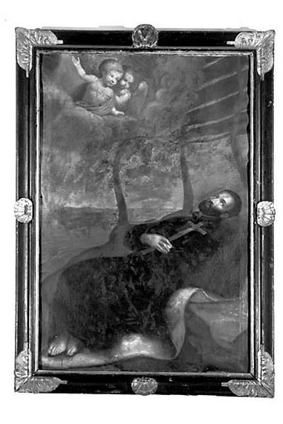 Tableau et son cadre : la Mort de saint François Xavier