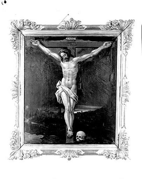 Tableau et son cadre : Christ en croix (n° 1)