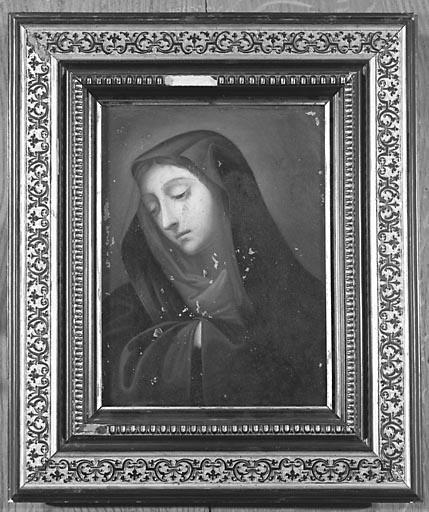 Tableau : la Vierge (?)