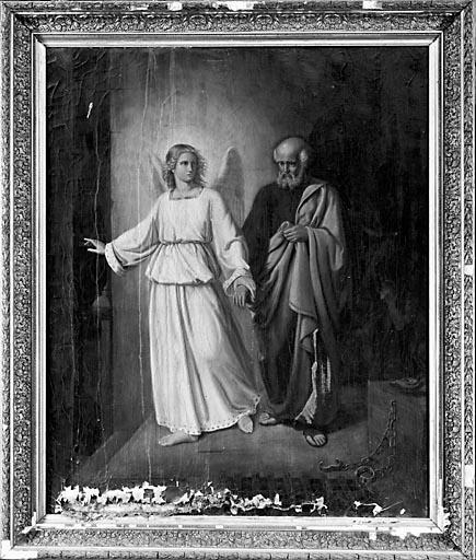 Tableau : Saint Pierre délivré par un ange