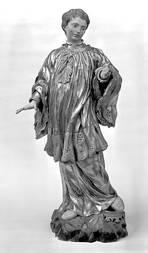 Statue-reliquaire : saint Louis de Gonzague