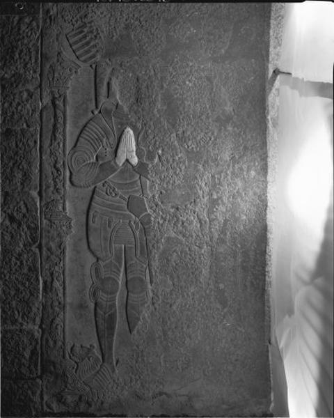 Dalle funéraire (pierre tombale) d'un chevalier et de sa dame