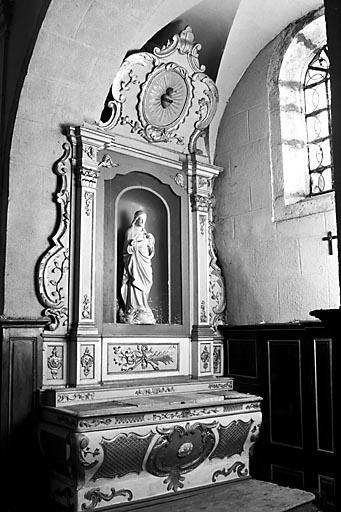 Autel, gradin d'autel, prédelle, retable (autel secondaire de la chapelle droite)