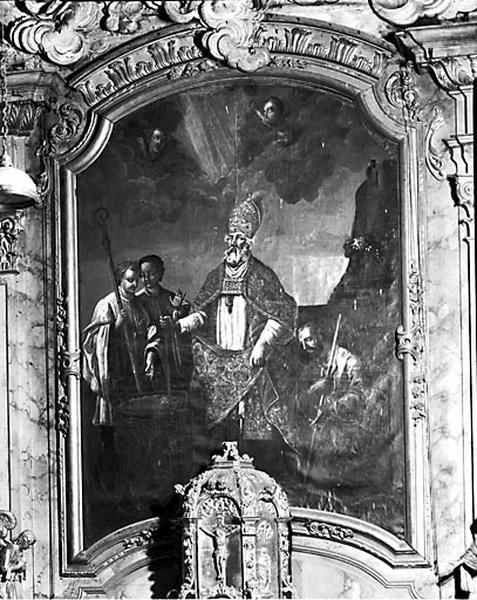 3 tableaux d'autel : saint Théodule, saint Etienne et saint Laurent