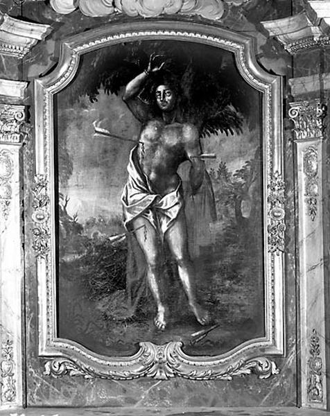 tableau d'autel : le Martyre de saint Sébastien