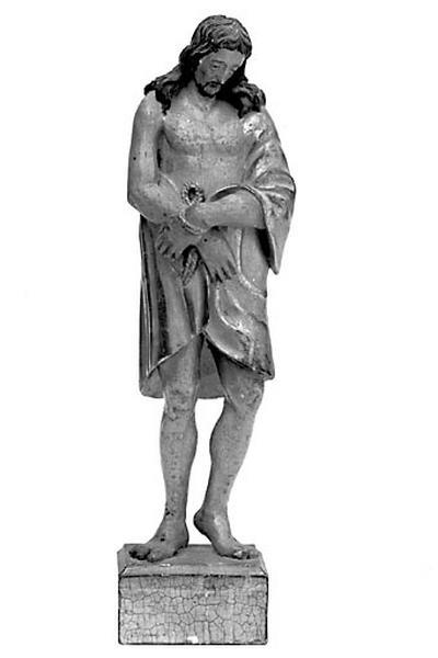 2 statuettes : Christ au liens et Vierge de l'Assomption