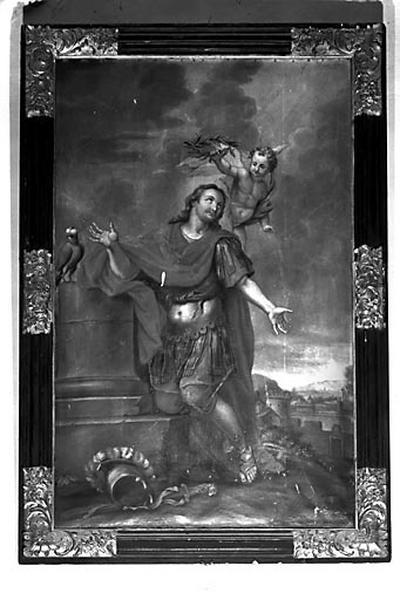 tableau et son cadre : saint Gengoulph