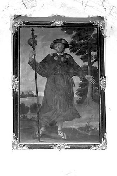 tableau et son cadre : saint Jacques le Pèlerin