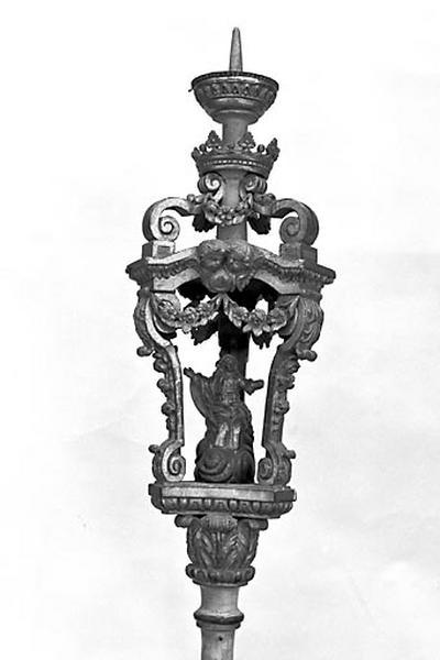 2 porte-cierges de procession : saint Gengoulph et l'Assomption