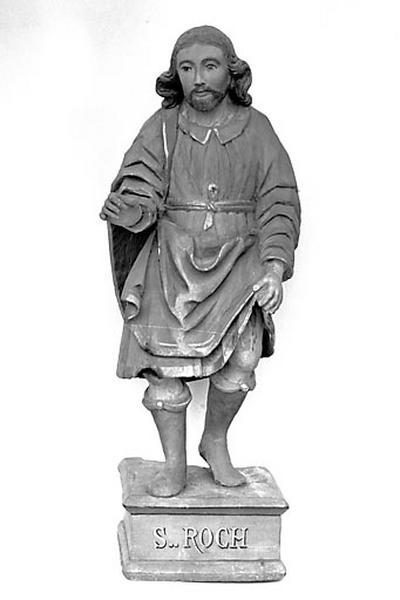 2 statuettes : saint Joseph et saint Roch