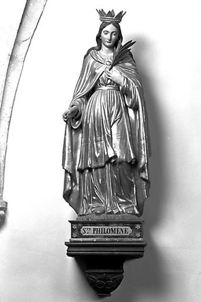 2 statues : sainte Philomène et saint Joseph
