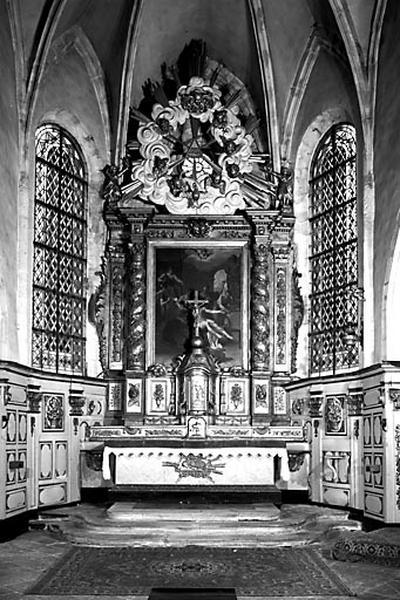 Tabernacle, retable (ensemble du maître-autel)