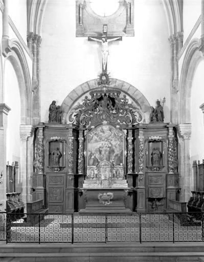 Autel, retable et tabernacle (ensemble du maître-autel)