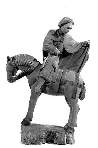Groupe sculpté (statue équestre) : la Charité de saint Martin