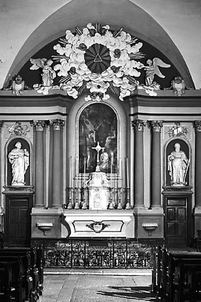 Autel, tabernacle, retable (ensemble du maître-autel)