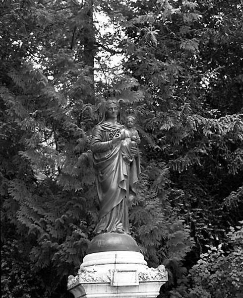 statue : Vierge à l'Enfant dite Notre-Dame du Chêne