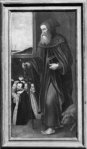 2 tableaux : saint André et saint Antoine