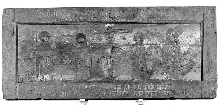 Tableau : le Calvaire avec saint Théodule et saint Blaise