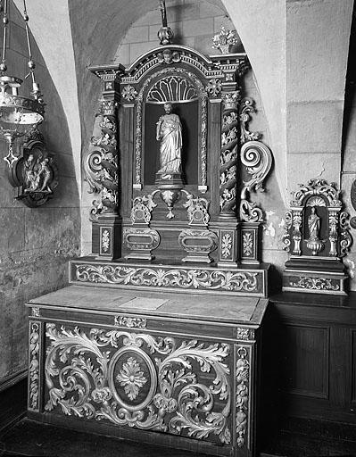 2 autels, 2 retables (2e ensemble de 2 autels secondaires)