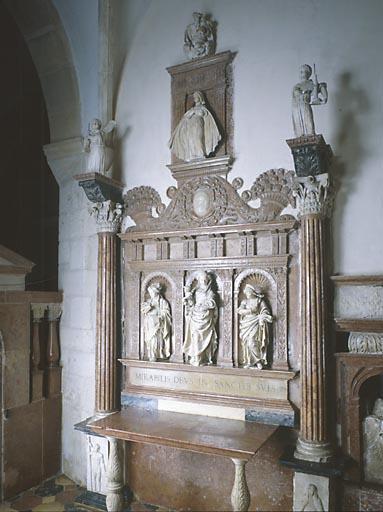 Autel, retable (autel de la chapelle de la Résie)