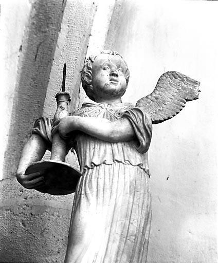 2 statuettes : anges thuriféraires