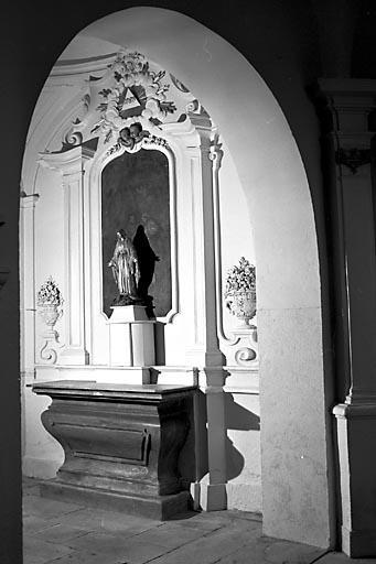 Autel, tabernacle, retable (autel secondaire de la chapelle gauche)