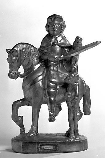 Statue-reliquaire (statuette de confrérie) : saint Martin
