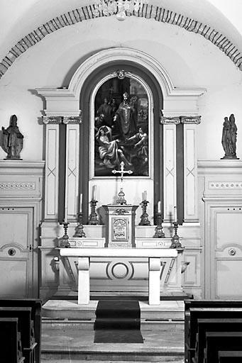 Autel, gradin d'autel, tabernacle, retable, tableau (ensemble du maître-autel)