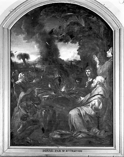 Tableau : les Hébreux sacrifiant aux idoles pendant la première fuite en Egypte (?)