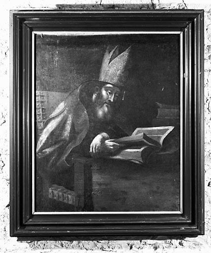 Tableau : évêque lisant (saint Hilaire ?)