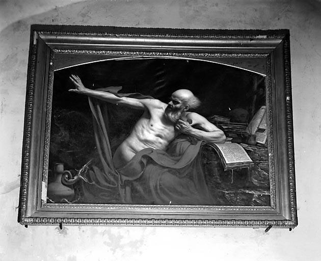 Tableau : Saint Jérôme chassant le démon