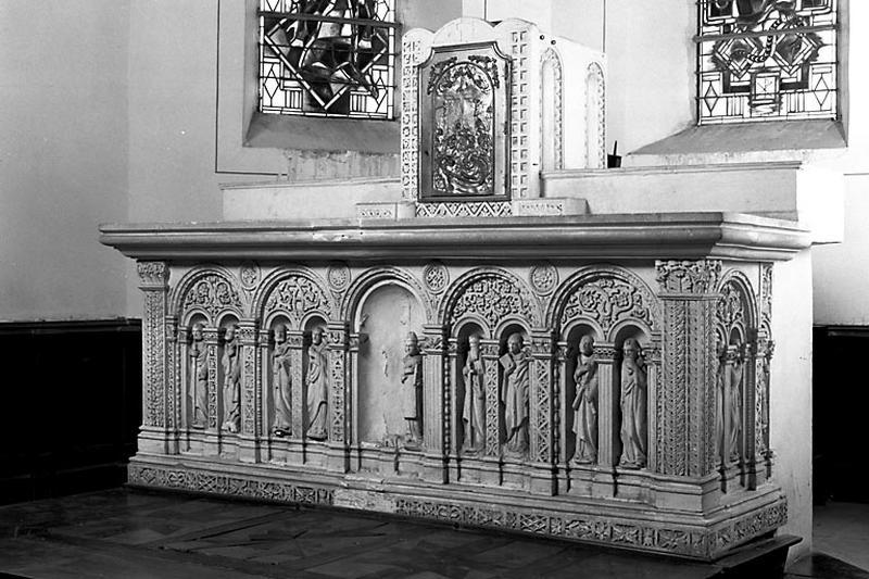 autel, tabernacle, statues (ensemble du maître-autel)