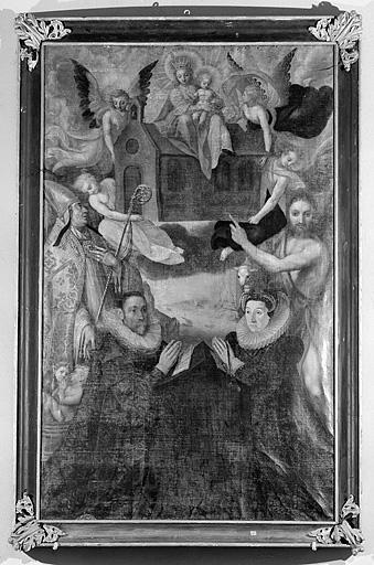 Tableau et son cadre : Vierge à l'Enfant dite Notre-Dame de Lorette