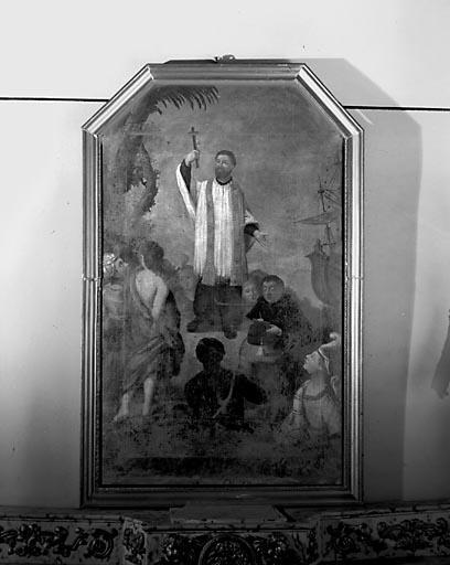 Tableau : Saint François Xavier évangélisant les indiens