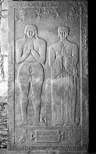 Dalle funéraire de Regnault de La Baume et de Nicole de Boigne
