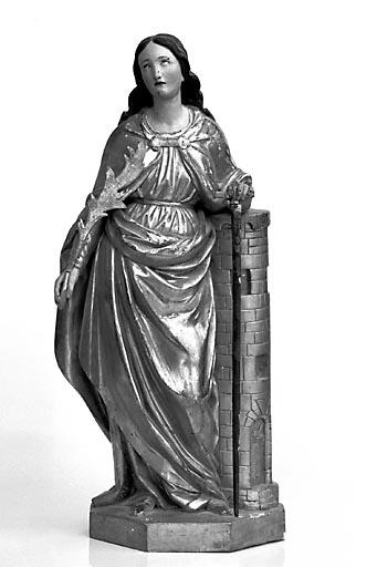 Statuette : sainte Barbe